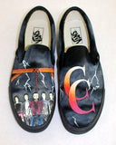 A Day To Remember - Hand Painted Common Courtesy Vans Slip Ons - B Street Shoes