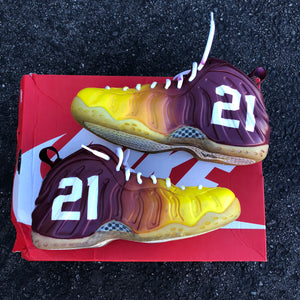 2 Pairs of Custom Painted Nike AF1 Highs - (Men's 9 and Men's 8) Redskins Theme/ Eagles Theme - Custom Order