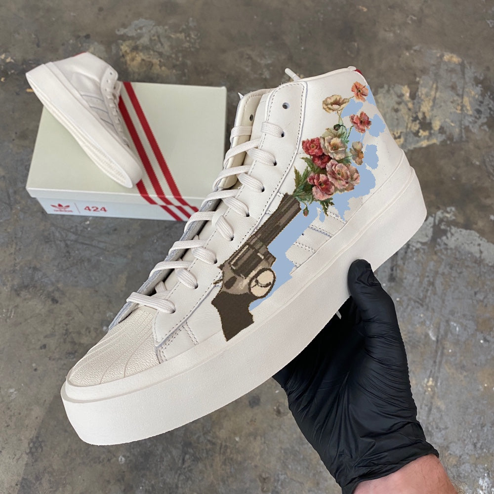 Custom Painted Sneakers & Denim Jeans - Custom Order - Invoice 2 of 2