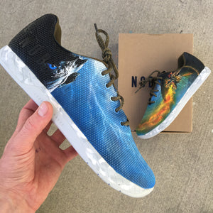 Custom Hand Painted Game of Thrones NOBULL Trainers