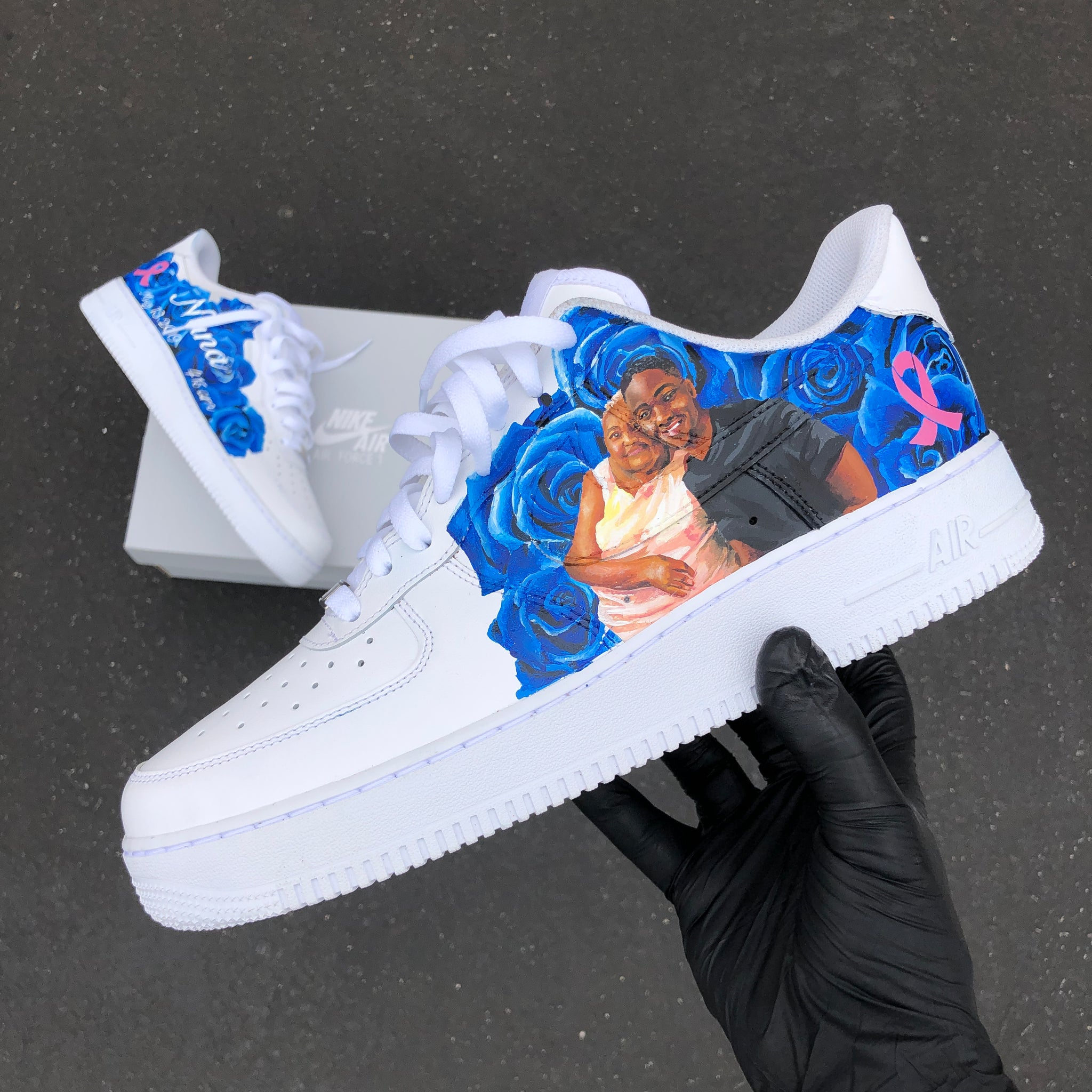 8d7dd95934048 Copy of US Men's Size 12 White Nike Air Force 1- Memorial Theme ...