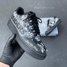 Custom Hand Painted Football NFL Raiders Nike Air Force 1 Low