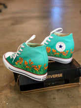 Converse Hi Top - Orange Bloom Flowers