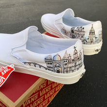 True White Vans Slip ons - mens 11 - custom order - invoice 2 of 2