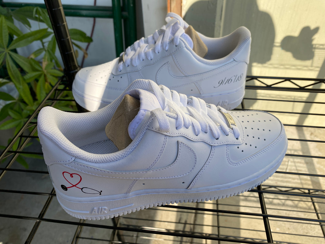 White Nike AF1s - Womens 9 - Custom Order - Invoice 2 of 2