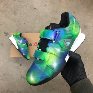 05a71e9a82d5c3 Custom Painted Prism Reebok Legacy Weightlifting Shoes