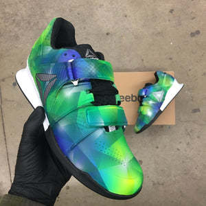 Custom Painted Prism Reebok Legacy Weightlifting Shoes