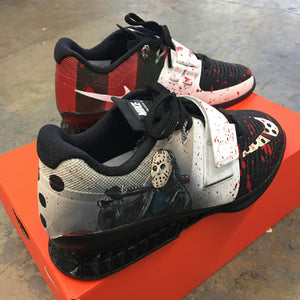 Freddy vs Jason Custom Painted Nike Romaleos 3 Weightlifting Shoes