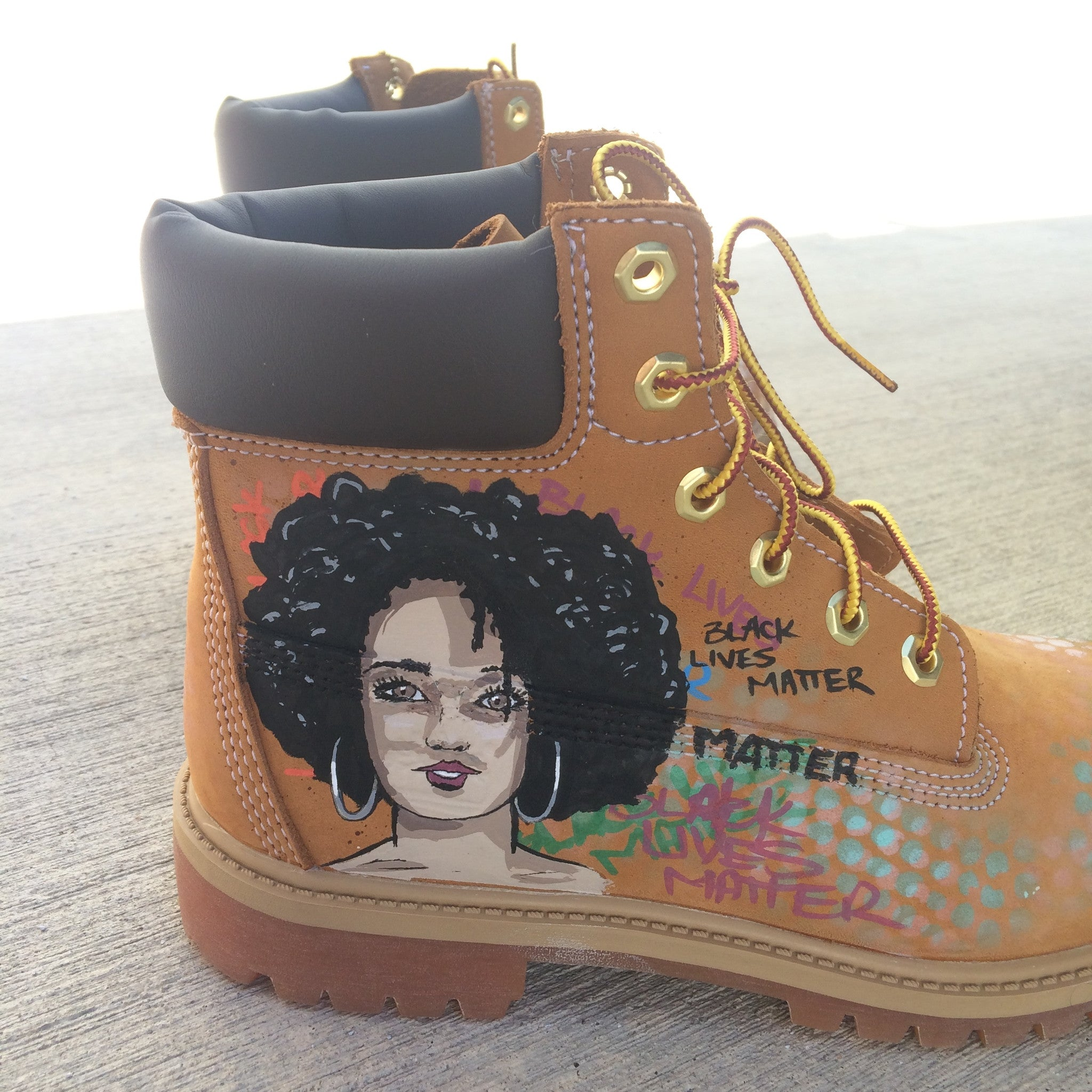 Custom Hand Painted Timberland Boots Black Lives Matters