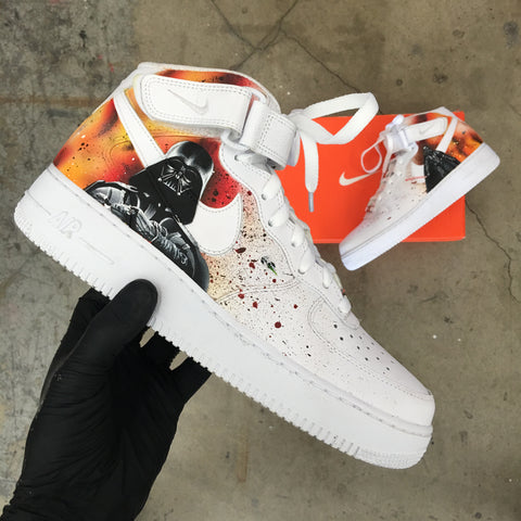 c43058b41f8b4 Custom Painted Nike Air Force 1 Star Wars! – B Street Shoes
