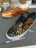 Black & Gold 'Breakthough' Nike SB Stefan Janoski - Hand Painted - B Street Shoes