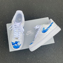 Custom Hand Painted Wave Splash Swoosh Nike Air Force 1 Low