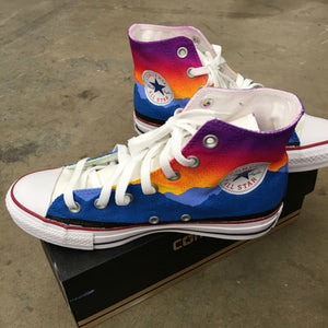 Converse  Sunset Coachella Music Festival Hi Tops