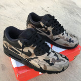 Custom Nike Air Max 90, Hand Painted Shoes, Desert Camo Nike AM90