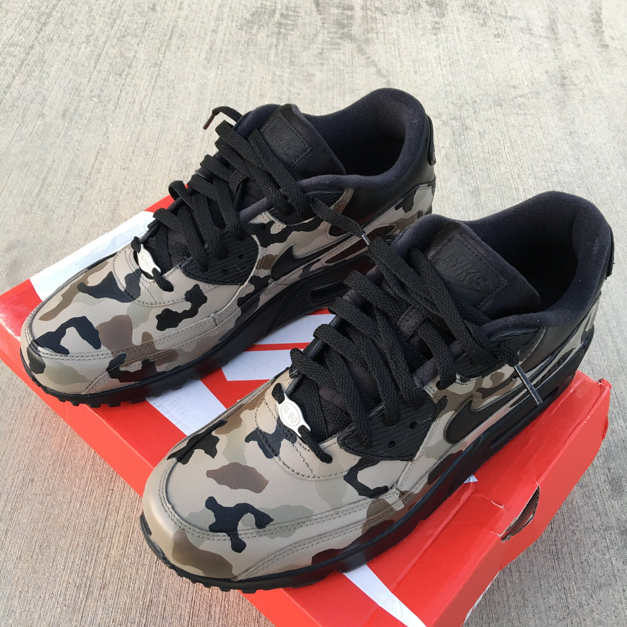 custom painted air max 90 camouflage
