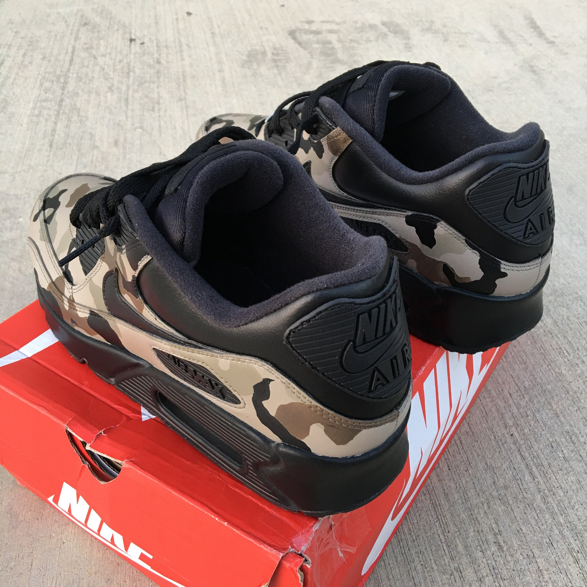 usa air max nike sneakers custom painted da41d 56328