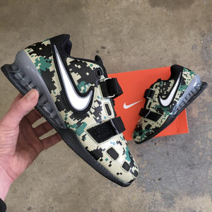 MARPAT Woodland Camo Lifters, Custom Nike Romaleos 2, Digital Camo Nike Weightlifting Shoes