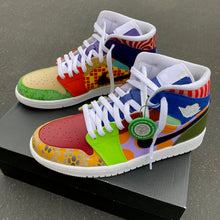 "Custom Hand Painted Nike ""What the dunk"" Air Jordan Mid"