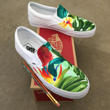 custom painted tropical floral vans shoes