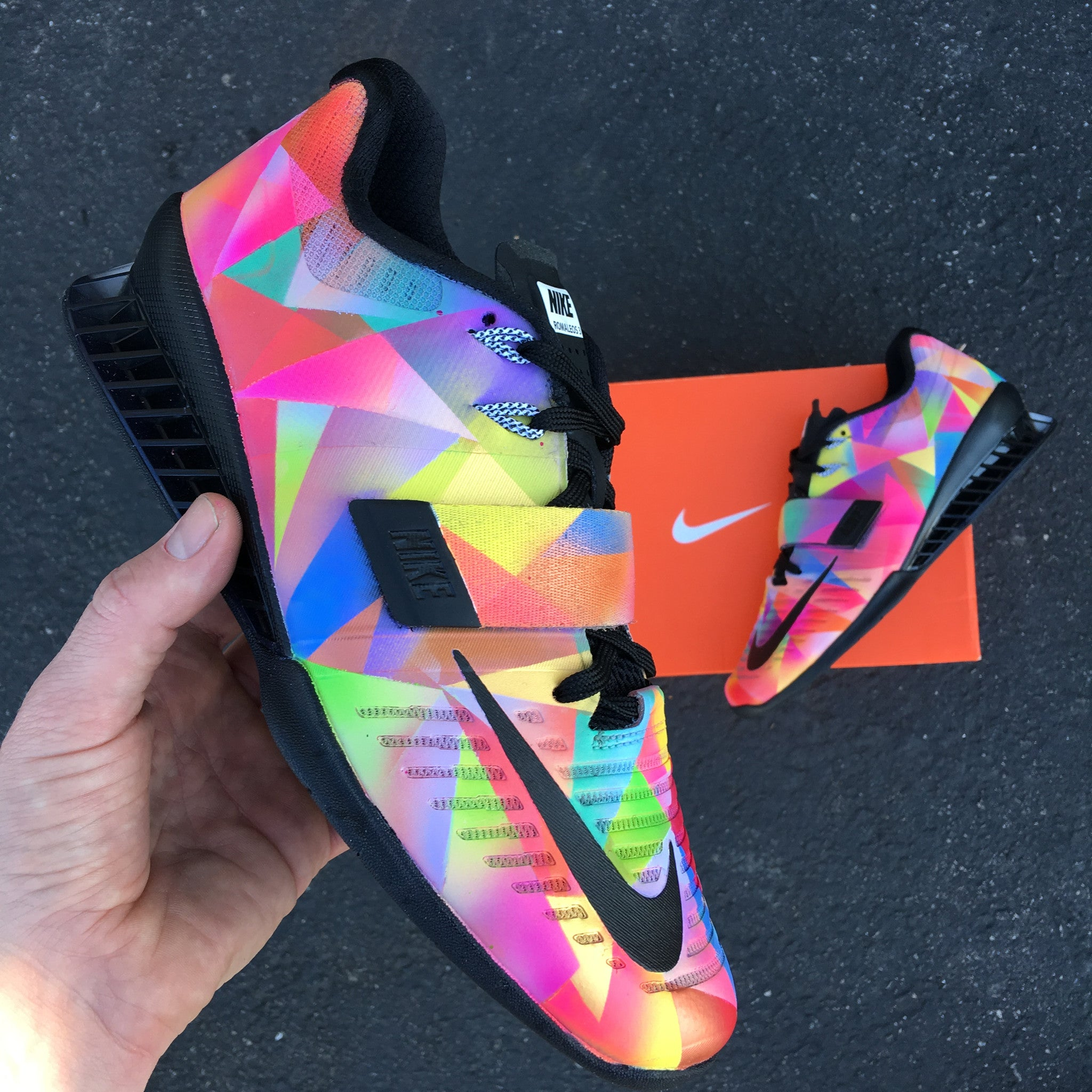 Nike Romaleos 3 Prism Custom Painted Weightlifting Shoes