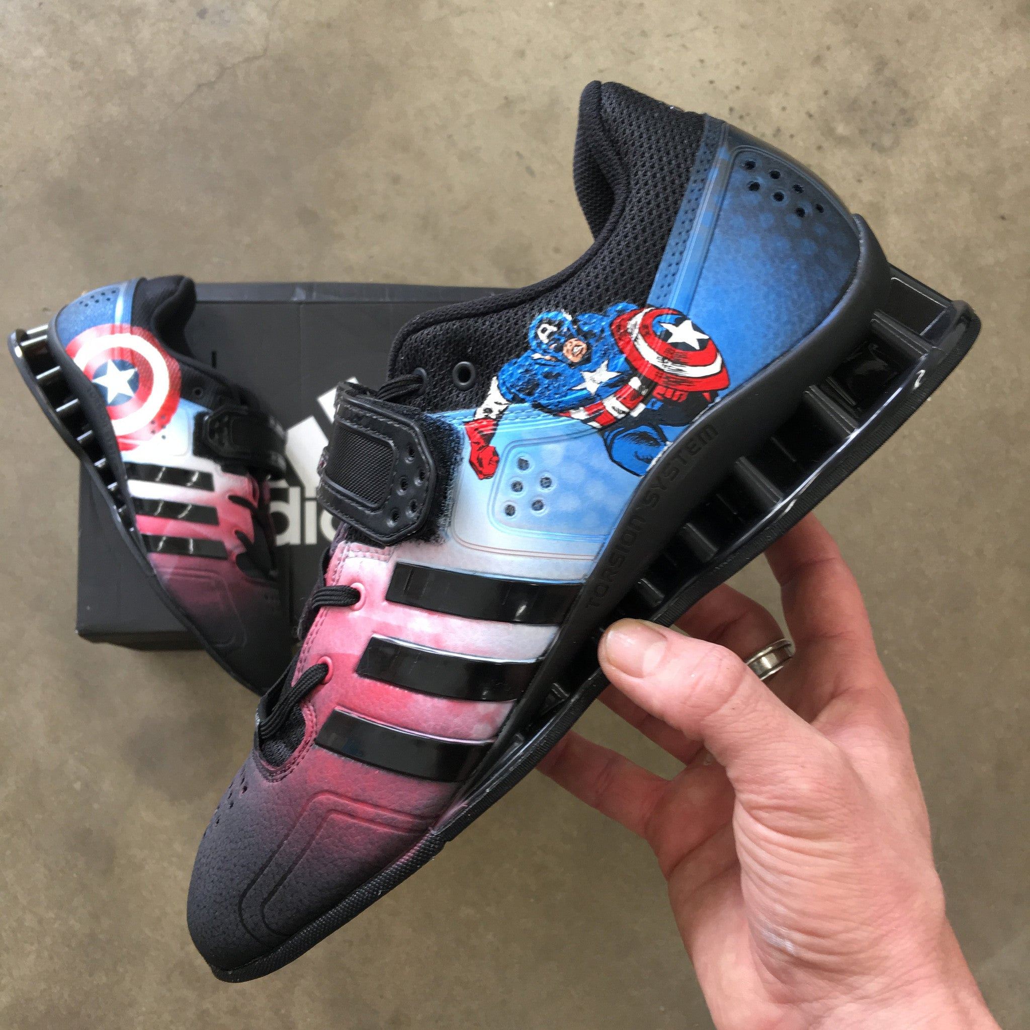 Adidas Adipower Weightlifting Shoes - Captain America Theme ...
