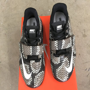 Hand Painted Nike Romaleos 3 Weightlifting Shoes - Python Snake Skin