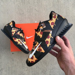 Custom Painted Pizza Nike Romaleos 3 Weightlifting Shoes