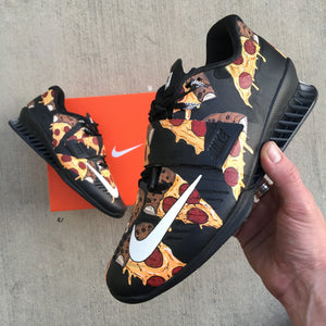 Pizza Themed Nike Romaleos 3 Weightlifting Shoes- Custom Painted Nike  Lifters 2270efb6c1