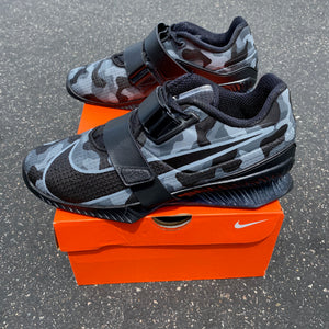 US Men's size 9 Black Nike Romaleos 4 - Viking Quest Colors Camouflage- Custom Order Invoice 2
