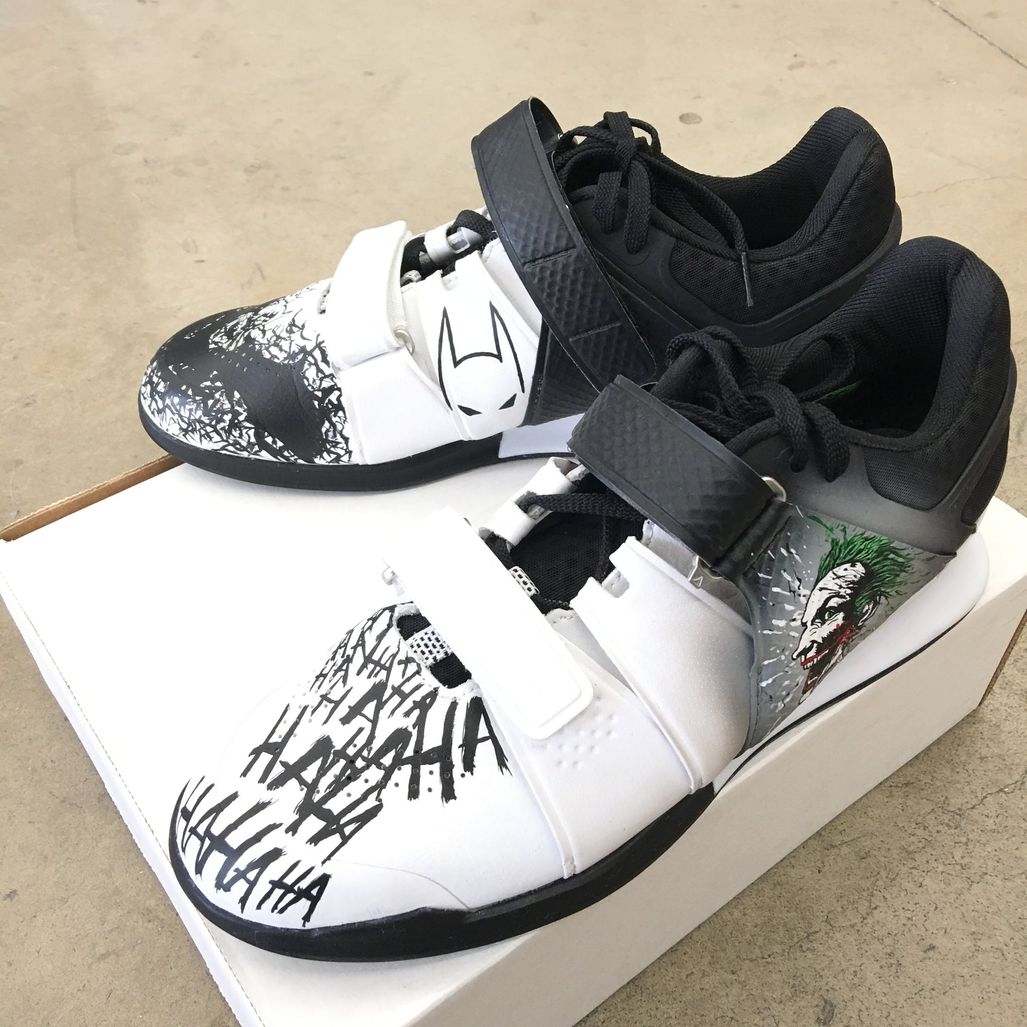 ... Custom Painted Batman Joker Reebok Legacy Weightlifting Shoes ...