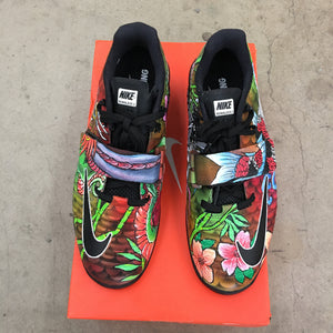 Custom Painted Nike Romaleos 3 - Koi Fish Japanese Theme