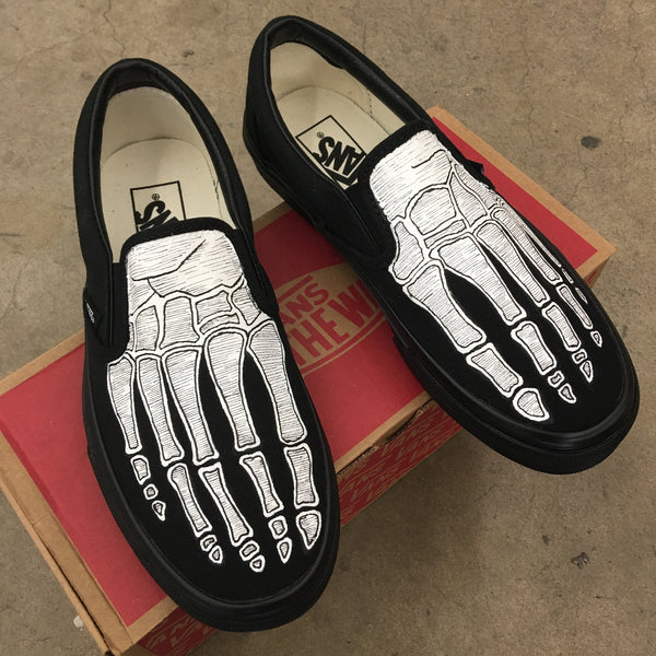 Skeleton All Black Vans