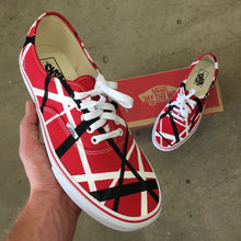 Red Converse Low Top - Mens 10.5 - Custom Order - Van Halen Theme