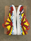 Custom Painted Roy Lichtenstein Pop Art Theme NOBULL Trainers