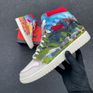 Hand Painted Nike Custom Scenic Images Jordan