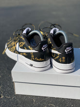 Women's size 7 Black Nike AF1 Low - Custom Order - Black Marble - Invoice 2