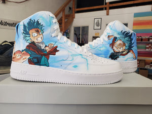 US Men's Size 12 Nike AF1 High-Tops - My Hero Academia - Custom Order - Invoice 2 of 2