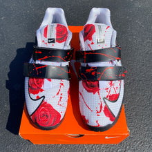 Custom Hand Painted Roses on Nike Romaleos 4 Weightlifting Shoes