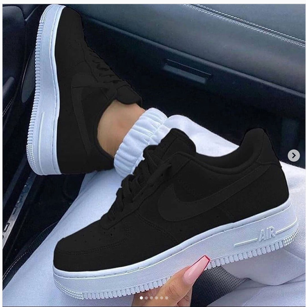 Men's size 10 Murder Black Nike AF1 - Custom Order