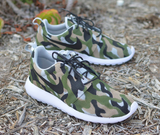 Camo Nike Roshe One - Custom Hand Painted Sneakers - B Street Shoes