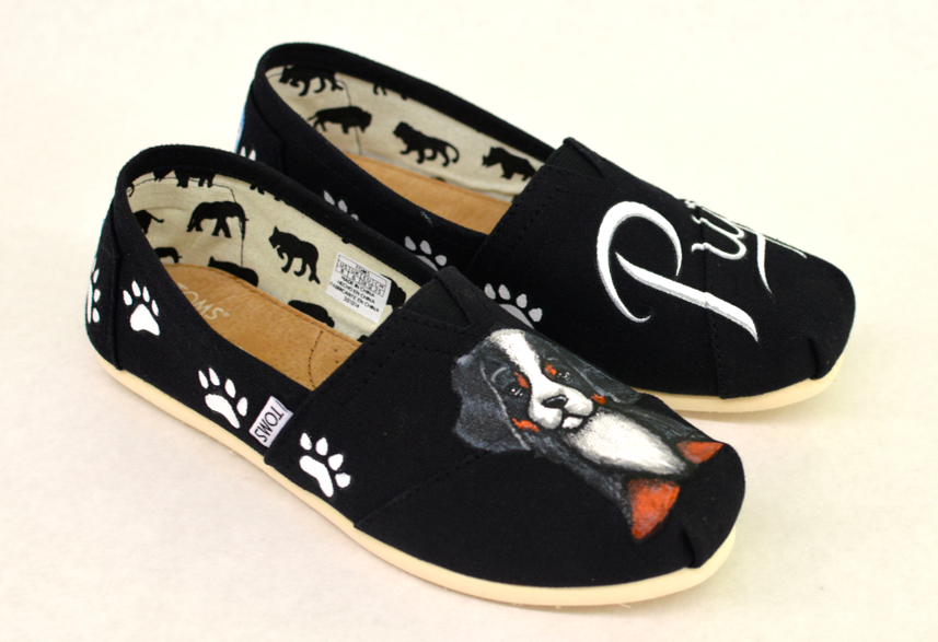 Custom Hand Painted Puppy Dog Shoes - Customizable Get Your Dog ... 01dbbb360