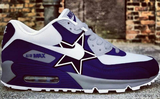 US Boys size 5 Nike Air Max 90 - Dallas Cowboys Theme - Custom Order