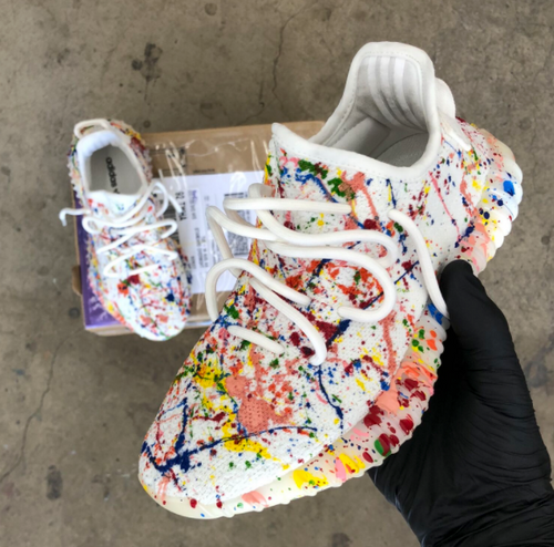 splattered Yeezy