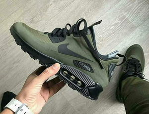 2 Pairs of US Youth Size 4.5 and 5.0 Black Air Max 90's- Forest Green- Custom Order