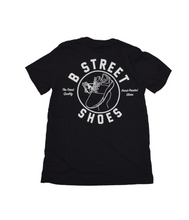 B Street Pocket Tee-Shirt- Black with Retro Logo- LIMITED QUANTITY & SIZING