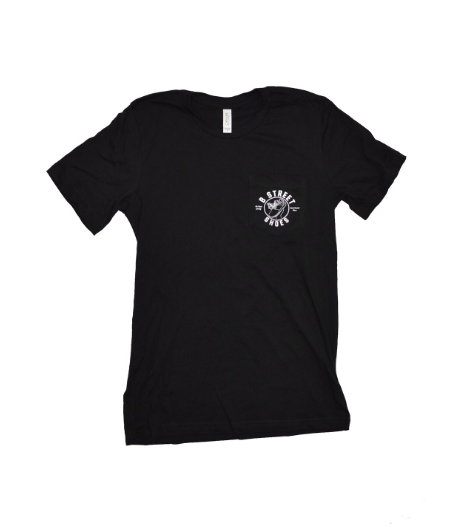 B Street T-Shirt- Black W/ White B Street Logo on Pocket- LIMITED QUANTITY & SIZING