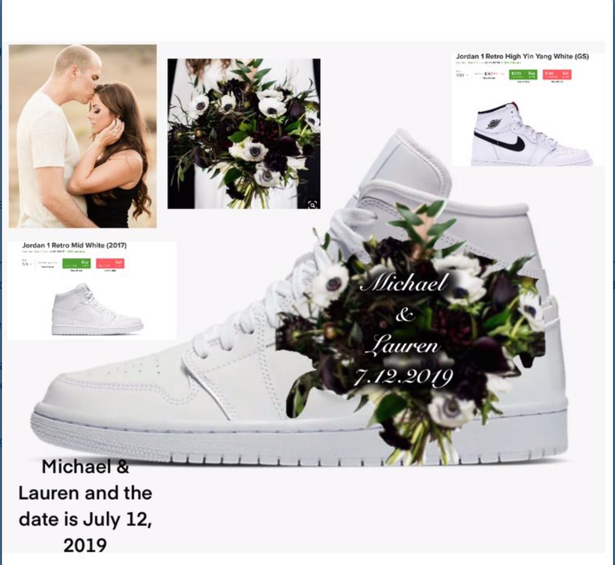 check out 72cd6 c0c71 US Women's Size 7 All White Jordan 1- Wedding Theme With ...