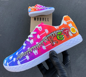 US Women's Size 5 Nike Air Force 1 High Top- Pride Theme- Custom Order- Payment 1 of 2
