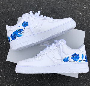 US Women's Size 9 White Nike Air Force 1 Low- Wedding & Floral Theme- Custom Order- Payment 1 of 2