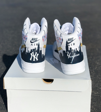 US Men's Size 11 Nike Air Force 1 High Top- San Diego Padres Theme- Custom Order- Payment 1 of 2
